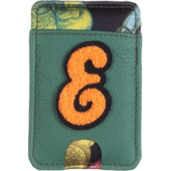 Laines London - Customised Leather Card Holder Sticker - Green / Orange found on Bargain Bro from Wolf and Badger for £42