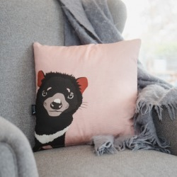 Tamanian devil cushion in dusty pink found on Bargain Bro India from hardtofind.com.au for $49.53