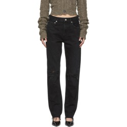 Agolde Black Cherie Hi Rise Straight Jeans found on MODAPINS from SSENSE for USD $170.00