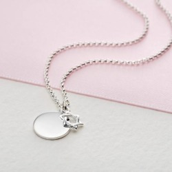 Personalised Sterling Silver Star of David Necklace