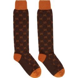 691f7cad13f Gucci Brown and Orange Alpaca GG Supreme Socks found on MODAPINS from ssense  asia-pacific
