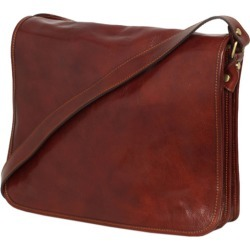 Nero leather messenger bag in brown found on Bargain Bro India from hardtofind.com.au for $212.98