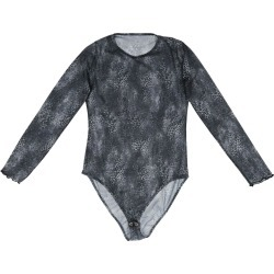 L2R THE LABEL - Printed Mesh Bodysuit In Dark Grey Leopard found on Bargain Bro from Wolf & Badger US for USD $34.20