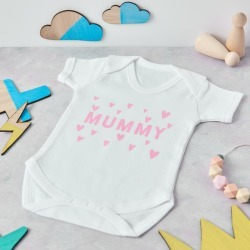 Personalised Mummy Hearts Babygrow found on Bargain Bro India from hardtofind.com.au for $27.88