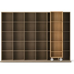 LTL430 Literatura Light Bookcase Super-matt Oak, Whitened Oak found on Bargain Bro UK from Clippings