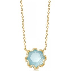 Astley Clarke - Paloma Milky Aquamarine Pendant Necklace found on MODAPINS from Wolf & Badger US for USD $291.00