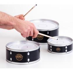 Suck UK set of three drumkit cases storage tins
