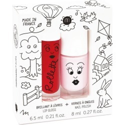Nailmatic kids lip gloss and nail polish gift pack in kids cottage