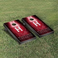 Harvard Crimson Cornhole Game Set Metallic-Look