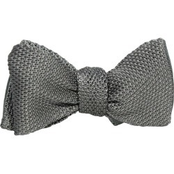 40 Colori - Grey Knitted & Woven Silk Butterfly Bow Tie found on Bargain Bro UK from Wolf and Badger