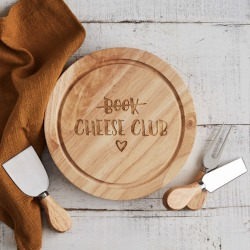 Cheese club funny cheese board and knife set
