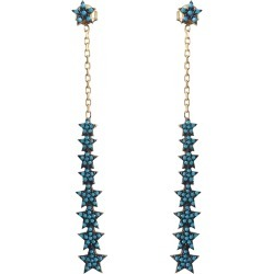 Wild Hearts - Turquoise Multi Drop Star Earrings Gold found on Bargain Bro from Wolf & Badger US for USD $118.56
