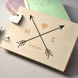 Personalised arrows guest book