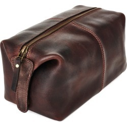 VIDA VIDA - Classic Dark Brown Leather Wash Bag found on Bargain Bro Philippines from Wolf & Badger US for $81.00