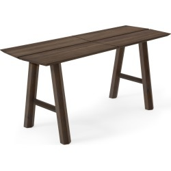 SAVIA Bench Dark Stained Wood-Black Savia Bench