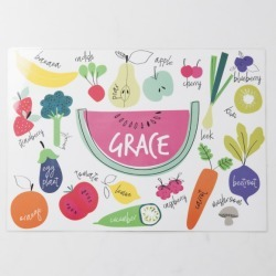 Personalised Fruit and Veg Placemat