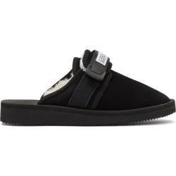Suicoke Black Shearling Zavo-M Sandals