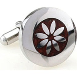 Wood and steel flower cufflinks found on Bargain Bro from hardtofind.com.au for USD $27.25