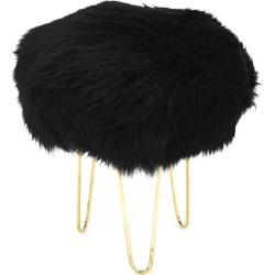 Nina - Sheepskin Footstool Coal Black found on Bargain Bro UK from Clippings
