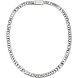 Northskull - Flat Curb Chain Necklace In Silver found on MODAPINS from Wolf & Badger US for USD $271.00