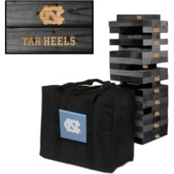 North Carolina Tar Heels Onyx Stained Giant Wooden Tumble Tower Game