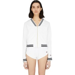 Terry Cloth Warm Up Jacket - White
