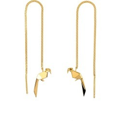 Origami Jewellery - Parrot Gold Chain Earrings found on Bargain Bro UK from Wolf and Badger