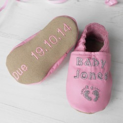 Personalised pregnancy baby shower baby shoes