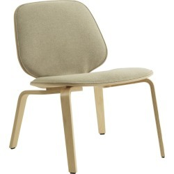My Chair - Lounge, Front Upholstered Lacquered Birch, Main Line Flax