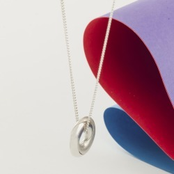 Sterling Silver Mobius Infinity Necklace