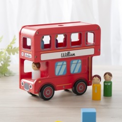 Personalised London Bus Wooden Toy
