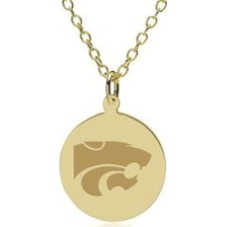Kansas State 14K Gold Pendant and Chain