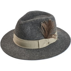 Justine Hats - Fedora Hat With A Feather