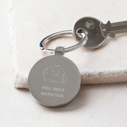 Personalised You Rock Keyring found on Bargain Bro India from hardtofind.com.au for $28.40