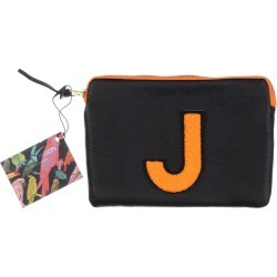 Laines London - Personalised Small Classic Leather Clutch Bag - Black / Orange found on Bargain Bro UK from Wolf and Badger