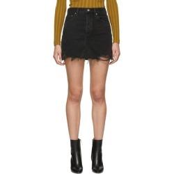Agolde Black Quinn Hi Rise Miniskirt found on MODAPINS from SSENSE for USD $130.00