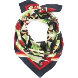 Texas and the Artichoke - Medium Black Cockatoos Silk Scarf found on Bargain Bro from Wolf & Badger US for USD $117.04