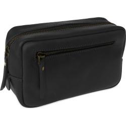 VIDA VIDA - Travel Black Leather Wash Bag found on Bargain Bro from Wolf & Badger US for USD $47.88