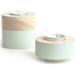 Trick - Domino Tealight Set Of 3 Mint