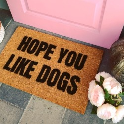 Hope You Like Dogs - Funny Doormat found on Bargain Bro Philippines from hardtofind.com.au for $38.51