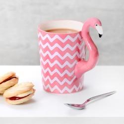 Chevron Tropical Flamingo Mug