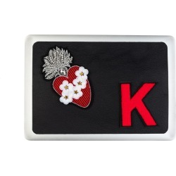 Laines London - Personalised Leather Flower Heart Laptop Sticker 13