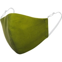 Face My Mask - Olive Green Linen Cotton Face Mask With Filter Pocket