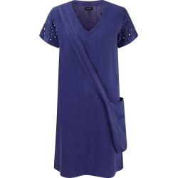 NoLoGo-chic - Garment Washed Linen Cutwork Shift Dress and Bag - French Ultramarine-Blue