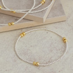 and Gold Bead Bracelet