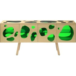 Aquario Cabinet Natural Ash with Green Glass found on Bargain Bro UK from Clippings