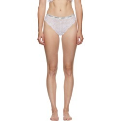 Aries White Lace Brazilian Briefs