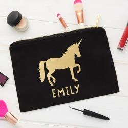 Personalised Unicorn Make Up Bag