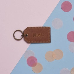 Personalised Anniversary Leather Key Ring found on Bargain Bro Philippines from hardtofind.com.au for $44.44