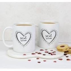 Soul sisters friendship mug set